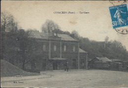 Conches  ( Eure )  La Gare   2 Scans - Railway