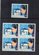 ISOLA NORFOLK - 1964 - Natale - 1 Quartina + 1 - 5 Valori -  Nuovi ** - (FDC17214) - Isola Norfolk