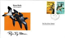 FDC JAMAICA  Birds  /  Oiseaux, JAMAIQUE, Lettre De Première Jour, BROWN BOBBY - Pelikane