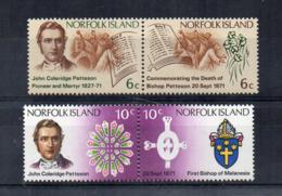 ISOLA NORFOLK - 1971 - Commemorazione Bishop E E J. C. Patterson - 4 Valori -  Nuovi - Linguellati * - (FDC17215) - Isola Norfolk