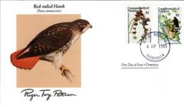 FDC DOMINICA Birds  /  Oiseaux, DOMINIQUE, Lettre De Première Jour,  BUTEO JAMAICENSIS - Vögel