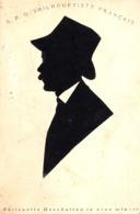 SILHOUETTE D' HOMME Par G. F. O. - SILHOUETISTE FRANÇAIS En ROUMANIE - ANNÉE / YEAR ~ 1900 - RRR ! (ad012) - Silhouette - Scissor-type