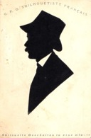 SILHOUETTE D' HOMME Par G. F. O. - SILHOUETISTE FRANÇAIS En ROUMANIE - ANNÉE / YEAR ~ 1900 - RRR ! (ad012) - Silhouettes
