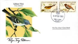 FDC CAICOS ISLANDS  Birds  /  Oiseaux, ÎLES CAICOS, Lettre De Première Jour,  VIREO SOLITARIUS - Sperlingsvögel & Singvögel