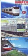 3 Carte Prépayée JAPON Différentes * CHEMIN DE FER (LOT TRAIN A-12) JAPAN * 3 TRAIN DIFFERENT PHONECARDS - Treni