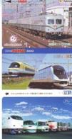 3 Carte Prépayée JAPON Différentes * CHEMIN DE FER (LOT TRAIN A-20) JAPAN * 3 TRAIN DIFFERENT PHONECARDS - Eisenbahnen