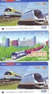 3 Carte Prépayée JAPON Différentes * CHEMIN DE FER (LOT TRAIN A-21) JAPAN * 3 TRAIN DIFFERENT PHONECARDS - Trenes