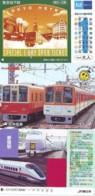3 Carte Prépayée JAPON Différentes * CHEMIN DE FER (LOT TRAIN A-37) JAPAN * 3 TRAIN DIFFERENT PHONECARDS - Treni
