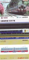 3 Carte Prépayée JAPON Différentes * CHEMIN DE FER (LOT TRAIN A-44) JAPAN * 3 TRAIN DIFFERENT PHONECARDS - Trains