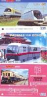 3 Carte Prépayée JAPON Différentes * CHEMIN DE FER (LOT TRAIN A-53) JAPAN * 3 TRAIN DIFFERENT PHONECARDS - Treni