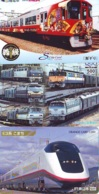 3 Carte Prépayée JAPON Différentes * CHEMIN DE FER (LOT TRAIN A-54) JAPAN * 3 TRAIN DIFFERENT PHONECARDS - Treni