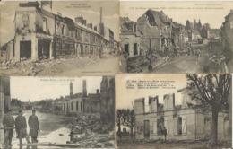 9491 Lot De 50 CPA Villes Et Villages Bombardés - Guerra 1914-18