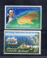 ISOLA NORFOLK - 1970 - J. Cook - 2 Valori -  Nuovi - Linguellati * - (FDC17217) - Isola Norfolk