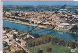 La Réole (33) Vue Générale Aérienne Et Le Pont Sur La Garonne - La Réole