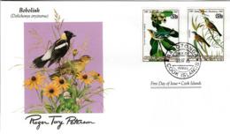 FDC  COOK ISLANDS  Birds  /  Oiseaux,  , Lettre De Première Jour, ÎLES COOK    DOLICHONYX ORYZIVORUS - Sperlingsvögel & Singvögel