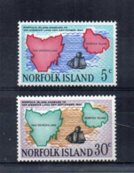 ISOLA NORFOLK - 1969 - Annessione Van Diemens Land - 2 Valori -  Nuovi - Linguellati * - (FDC17218) - Isola Norfolk