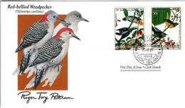 FDC  COOK ISLANDS  Birds  /  Oiseaux,  , Lettre De Première Jour, ÎLES COOK    MELANERPES CAROLINUS - Sperlingsvögel & Singvögel