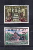 ISOLA NORFOLK - 1966 - Centenario Menalesian Mission - 2 Valori -  Nuovi - Linguellati * - (FDC17219) - Isola Norfolk