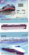 3 Carte Prépayée JAPON Différentes * CHEMIN DE FER (LOT TRAIN A-64) JAPAN * 3 TRAIN DIFFERENT PHONECARDS - Treni