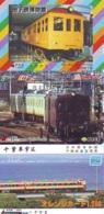 3 Carte Prépayée JAPON Différentes * CHEMIN DE FER (LOT TRAIN A-74) JAPAN * 3 TRAIN DIFFERENT PHONECARDS - Trenes
