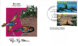 FDC  DJIBOUTI  Birds  /  Oiseaux,  Lettre De Première Jour,  MEROPS APIASTER - Vögel