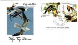 FDC  CENTRAL AFRICA  Birds  /  Oiseaux,  Lettre De Première Jour, CENTRAFRICAINE    ELANUS LEUCURUS - Vögel