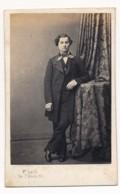 Photographie Ancienne XIXe CDV C. 1860 Portrait D'un Jeune Homme Bourgeois Photographe Lagriffe Paris - Photos