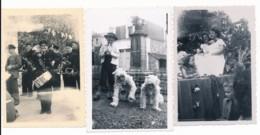 Lot De 3 Photographies Amateur Anciennes Fête Défilé à Thury Harcourt Calvados - Photographs
