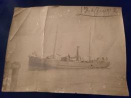 Rare Photo Ancienne Animée 16x22 Bateau île De Groix N 2 - Boten
