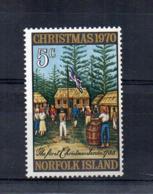 ISOLA NORFOLK - 1970 - Natale -  Nuovo - Linguellato * - (FDC17221) - Isola Norfolk