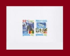 SENEGAL 2015 IMPERF DELUXE PROOF EPREUVE DE LUXE ND 70 ANNIVERSARY UN UNITED NATIONS UNIES ONU JOINT ISSUE MNH - Sénégal (1960-...)