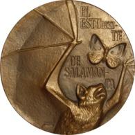 ESPAÑA. MEDALLA F.N.M.T. EL ESTUDIANTE DE SALAMANCA. 1.959. BRONCE. ESPAGNE. SPAIN MEDAL - Profesionales/De Sociedad
