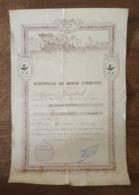 Certificat De Bonne Conduite Décerné Par Le Commandant Du Bataillon De Marche Du 8 è Zouaves, Verrier Anatole, Soissons - Documentos