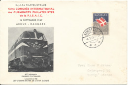 Denmark Cover Hovedgaard 4-7-1969 Single Franked And With Locomotive Cachet - Denmark