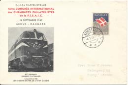 Denmark Cover Hovedgaard 4-7-1969 Single Franked And With Locomotive Cachet - Danemark