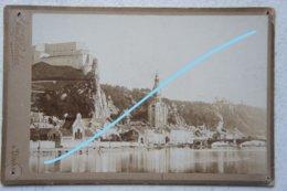 Photo DINANT Vue Début 1900 Photographe Louis Hachez Citadelle Pont Meuse Maas - Plaatsen