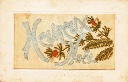 """Carte Brodée """" Heureux Noël"""" - Bestickt"""