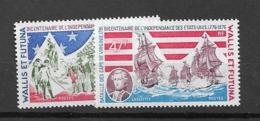 1976 MNH Wallis Et Futuna Mi 275-6, Postfris ** - Us Independence