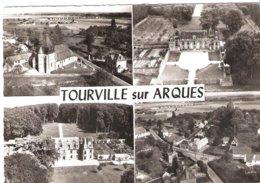 CPSM DE TOURVILLE SUR ARQUES L'EGLISE - CHATEAU DE MIROMESNIL - LA GRANDE RUE - France