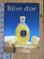 Carte Parfumée - L.T. PIVER - Rêve D'Or  - Pub Parfumerie Bonnetain  21 Auxonne - Calendrier 1995 - Perfume Cards