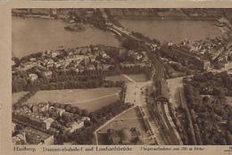 Deutschland  -   Hamburg  -  Dammtorbahnhof Und Lombardsbrücke - Fliegeraufnahme Aus 200 M.Höhe - Chemin De Fer