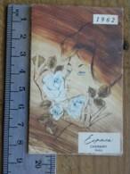 Carte Parfumée - CHERAMY Espace  - Pub Coiffeur Marcel L'Hote, 47 Rue St Aubin 49 Angers, Calendrier 1962 - Perfume Cards