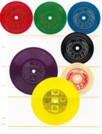 Bhutan 1973  Scott 152-152F (7) Complete Set VF NH Phonograph Records  Scarce Set !! - Bhoutan
