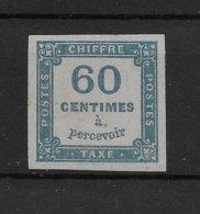 Taxe N° 9 ** TTBE - Cote Y&T 2020 De 110 € - 1859-1955 Mint/hinged