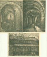 Hekelgem Set Van 4 Kunstkaarten Abdij Maria Mediatrix En St. Wivina     Van De Putte, Aalst - Kirchen Und Klöster