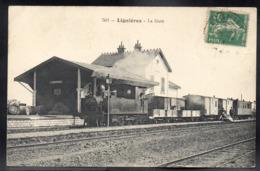LIGNIERES 18 - La Gare - Train - A227 - France
