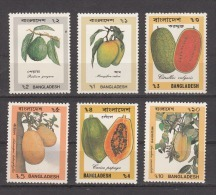 BANGLADESH, 1990,  Fruits, Fruit Series,  Set 6 V, MNH, (**) - Frutta