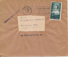 South Africa Wrapper Sent To Switzerland Pretoria 15-3-1952 Single Franked - South Africa (...-1961)