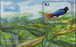 PAPUA NEW GUINEA  1993  BLUE  BIRD OF PARADISE  MS  MNH - Non Classés