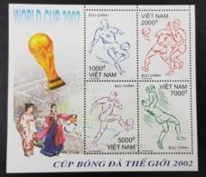 VIET NAM VIETNAM 2002 - SHEET BLOC BLOCK S/S- SOCCER WORLD CUP FOOTBALL COUPE DU MONDE - KOREA JAPAN COREE - RARE MNH - Vietnam